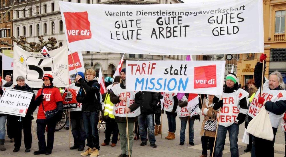 Немецкие профсоюзы и забастовки