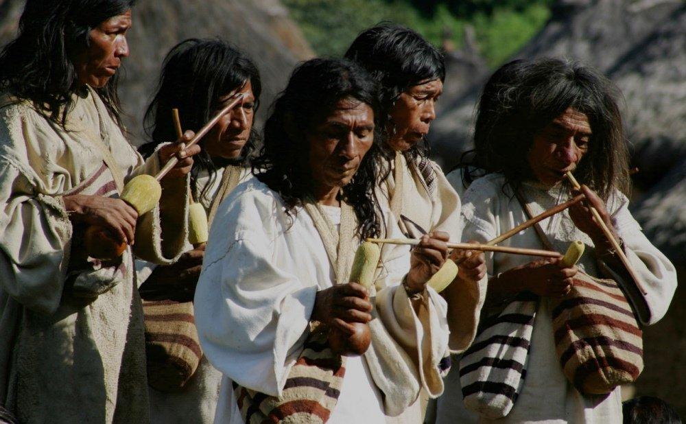 Образ жизни семьи индейцев
