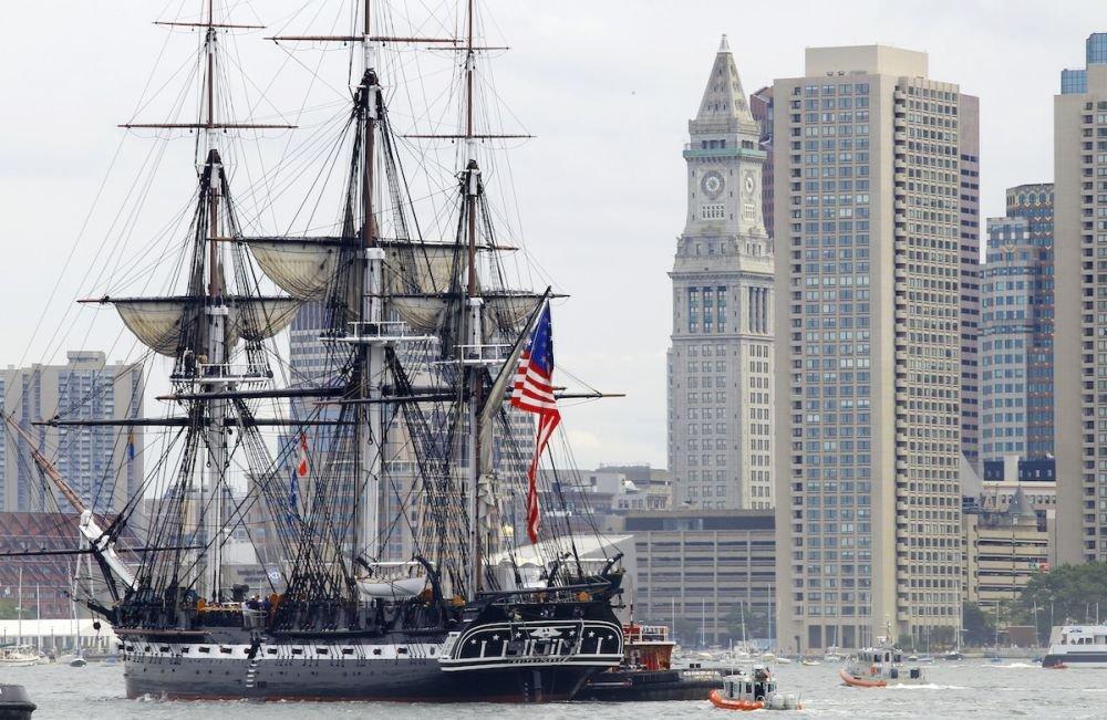 Корабль Uss Constitution, достопримечательность Бостона
